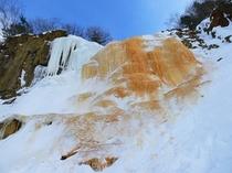 神秘の氷瀑イエローフォール(裏磐梯スキー場)
