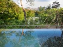 「展望露天風呂 四季の湯」から望む磐梯山の絶景