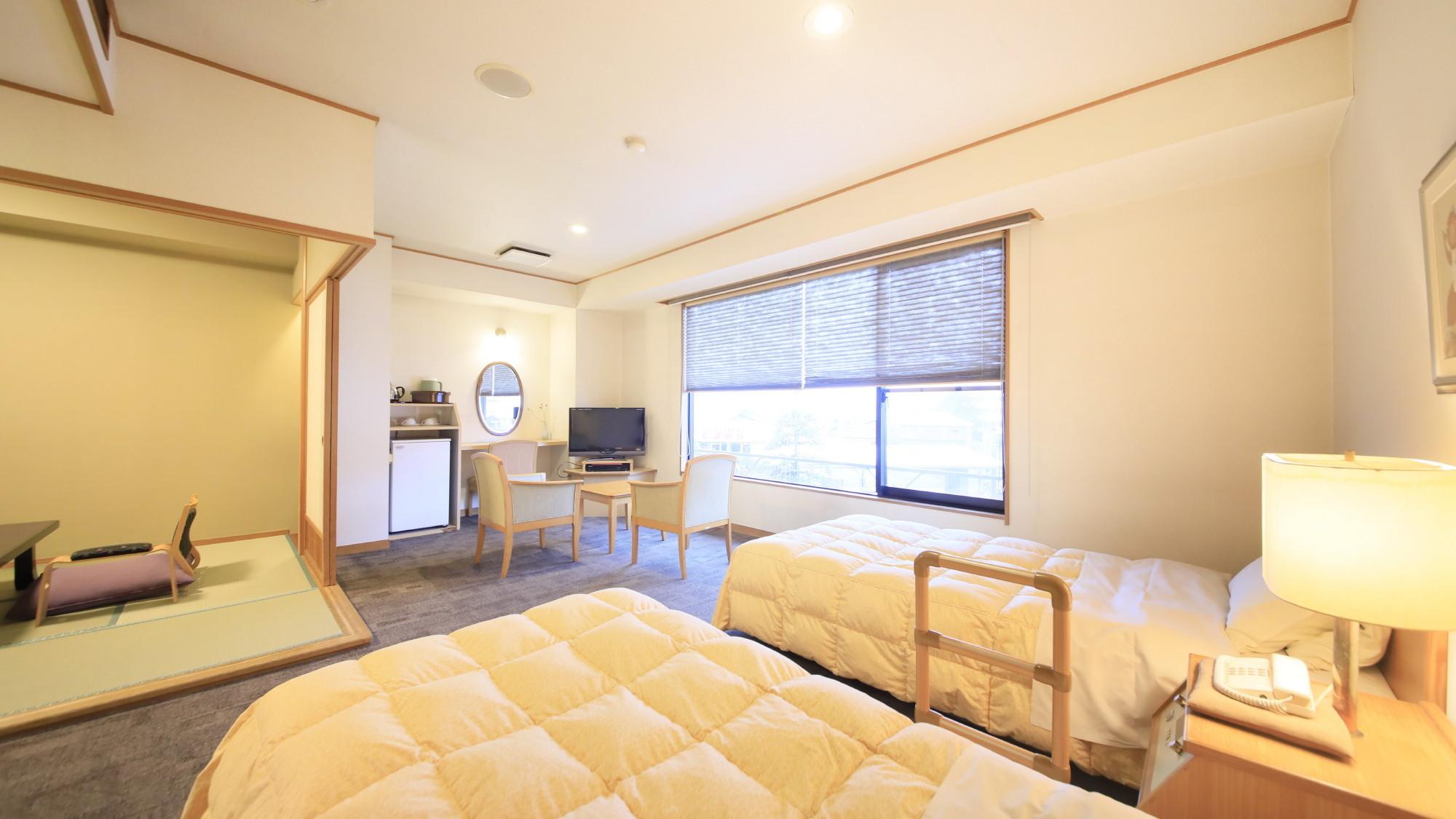 【湯美亭和洋室】洋間ベッド+和室6畳※一例