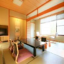 ◆湯美亭/和室12畳+4畳広縁/入口は段差がなく足の不自由な方におすすめです※一例