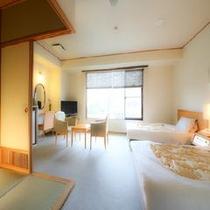 ◆湯美亭 和洋室/洋室+和室6畳(バリアフリー) ※一例