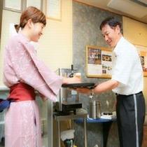 ◆16:00〜19:00まで、お風呂上りのワンドリンクサービス※イメージ