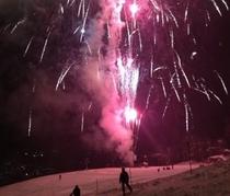 火祭りの花火