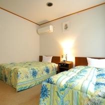 ★ツインルーム★120cm幅ベッドが2台、観光旅行に最適♪