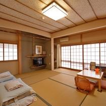 ◆和室◆柔らかな日差しが差し込む、昔ながらの造り。※和室・洋室はお選び頂けません。予めご了承下さい。