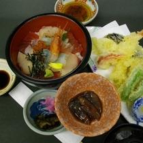 □海鮮丼と天麩羅