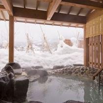 離れ湯(百八歩)露天風呂・冬