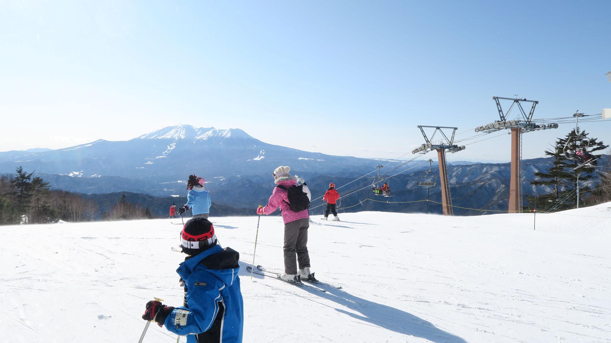 【冬・スキー】木曽福島スキー場。ゲレンデから眺める御嶽山は見事!