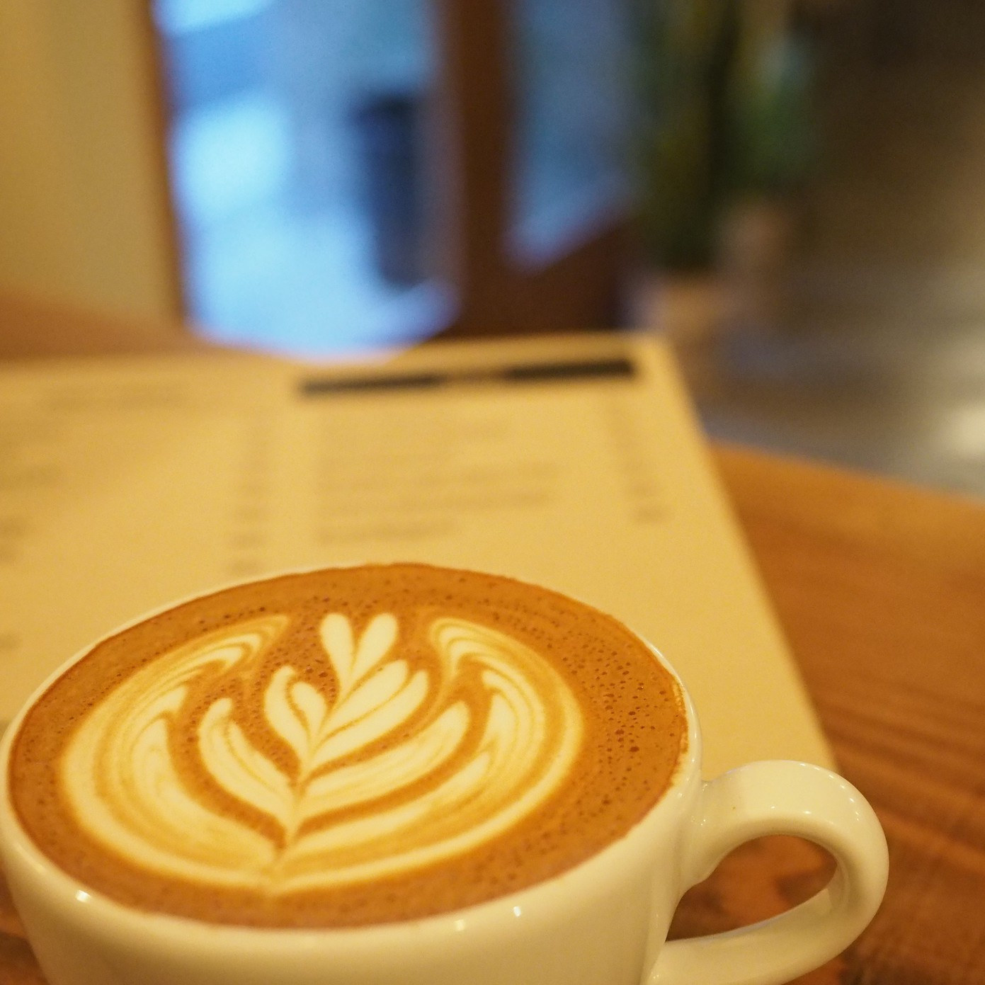 almond cafe latte