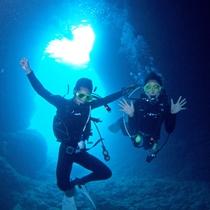 *【青の洞窟でダイビング体験】