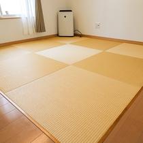 琉球畳を使用。お子様も安全・快適に過ごす事ができます。