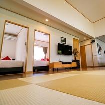 本格的な琉球畳を使用しております。通常とは違う畳の質感をお楽しみください。