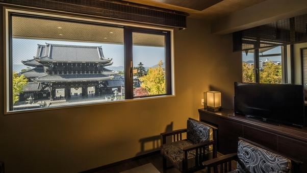 KUUスイートツイン 東本願寺ビュー ベッド幅120cm