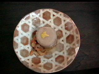 京芋と干し海老の煮物柚子皮添え