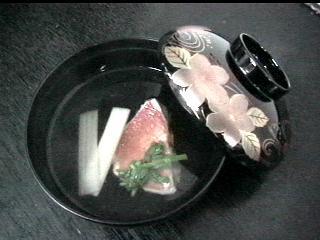 金目鯛とウドの清汁