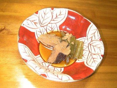 生節とフキの煮物(木の芽添え)