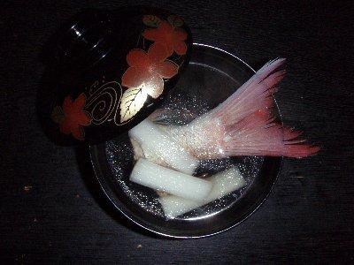 真鯛とウドの澄まし汁