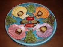 桧扇貝の燻製(追加注文料理)