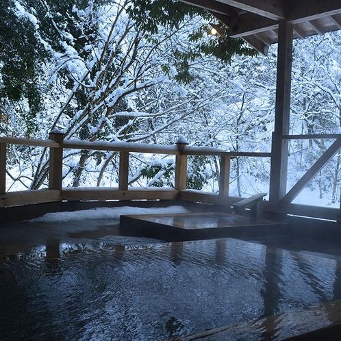露天風呂・冬