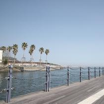 目の前は海。そのためとても静かで快適な時間をお過ごしいただけます。