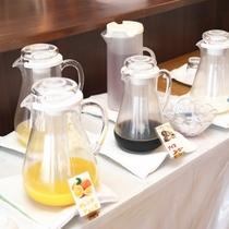 【朝食バイキング】お飲み物のご用意は数種類。