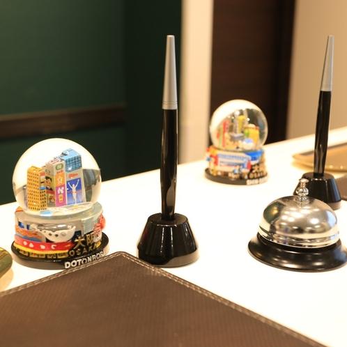 フロントには大阪スノードームがお出迎えしています。ぜひお越しの際はご覧ください♪