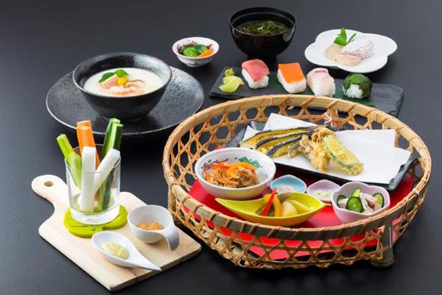 握り寿司と彩野菜のおもてなし