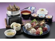 【夕食】地魚旬彩 刺身御膳