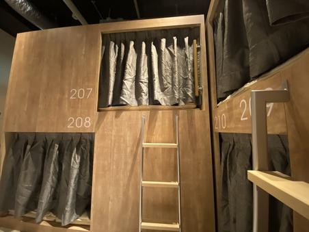 男女共用ドミトリールーム 8人部屋