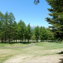 5月ゴルフ場から八ヶ岳