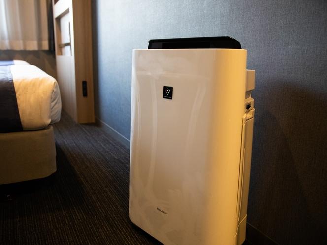 【空気清浄機】加湿機能付き空気清浄器は全室設置