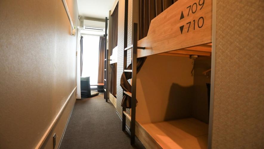【客室】2段ベッドルーム(シャワー・トイレ共用)