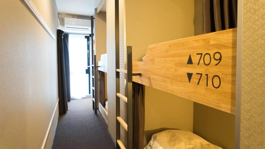 【客室】ドミトリー◆ベッド4台のうち1台利用