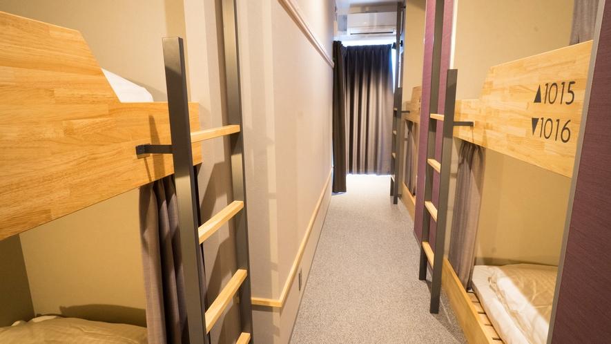 【客室】ドミトリー◆ベッド6台のうち1台利用