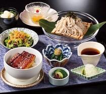 2019年8月 限定 日本料理 あしび 国産うなぎ丼と冷やしそば膳 イメージ