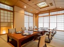 親しい方々とのお集まりやご商談などにご利用いただける日本料理・鮨<あしび>の掘りごたつ式の和室