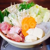 夕食(鶏ちゃんこ鍋)