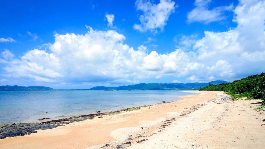 【周辺】青い海と白い砂浜が広がるプライベートビーチ。