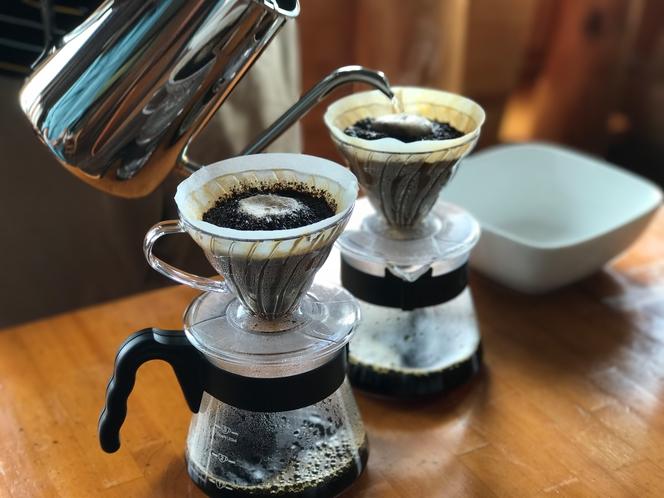 ハンドドリップで淹れる梶ヶ森オリジナルコーヒー