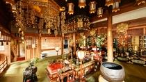 *【大師堂】護摩壇では大晦日から節分にかけて星祭祈祷会の護摩が修されます
