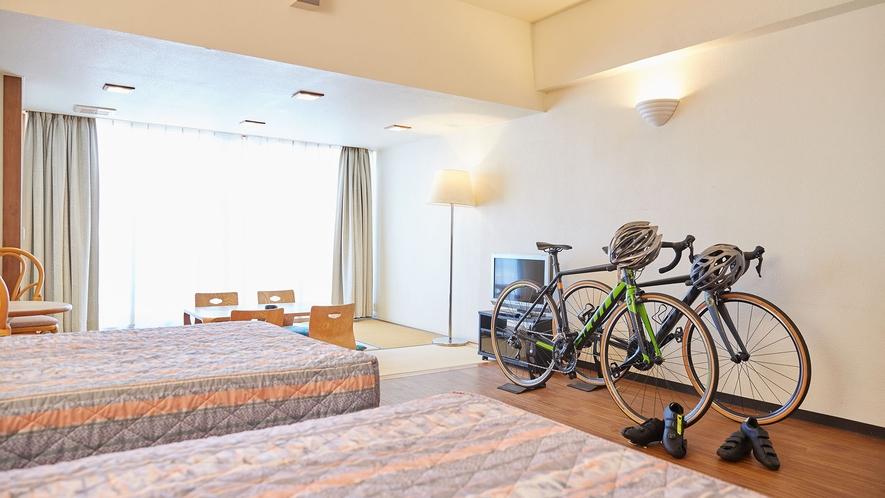【過ごし方イメージ】自転車旅のお客様も安心してご利用ください。
