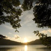 白駒の池の朝日