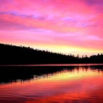 白駒の池の夕暮れ