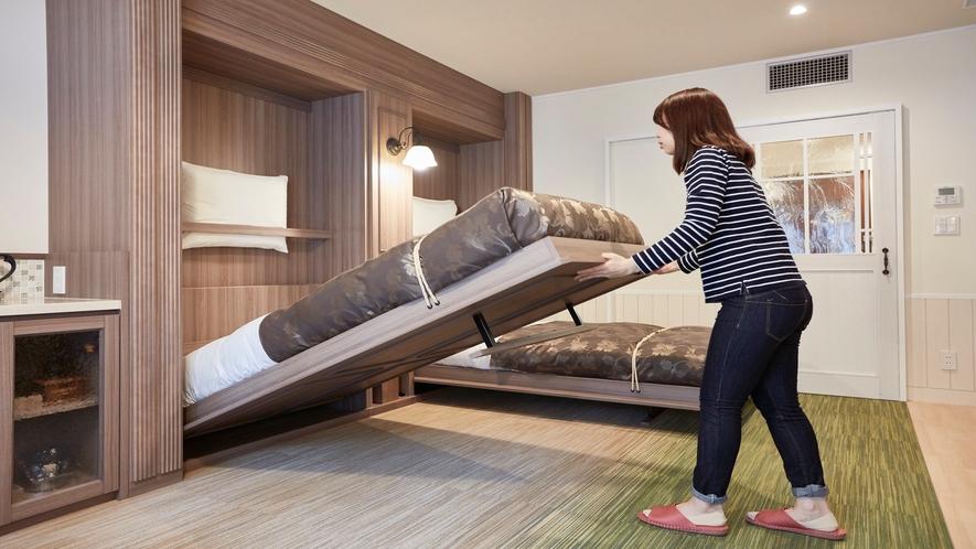 【客室】収納式ベッド