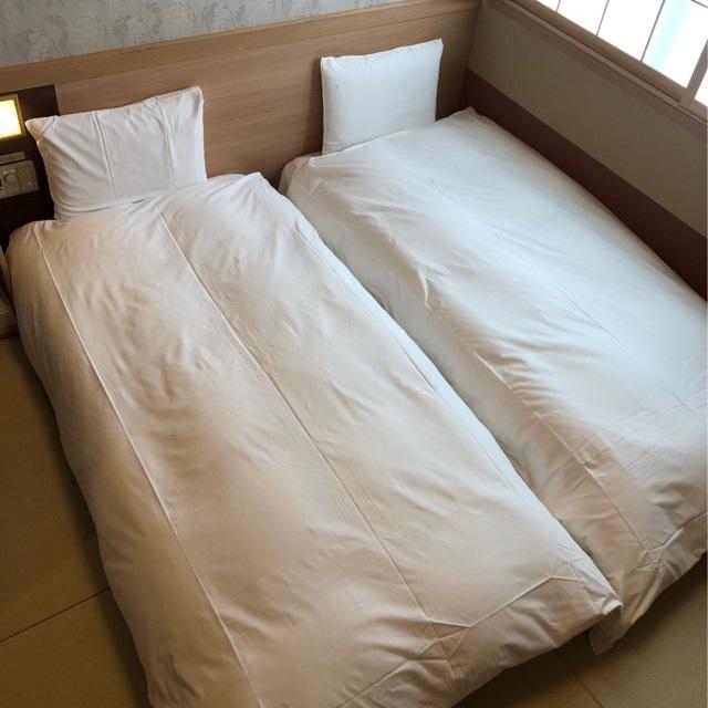 コンパクトツインルーム【禁煙】(90190センチのシングルベッド2)約16平米◆エアウィーヴ完備◆
