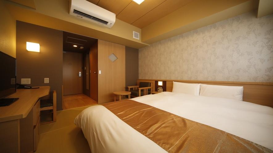 クイーンルーム【禁煙】(160×195センチ)約15.80~15.90平米◆サータ社ベッド完備◆