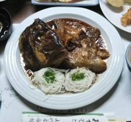 ボリューム満点 郷土料理 鯛のアラ煮+エビのマヨネーズ焼き WI−FI 可