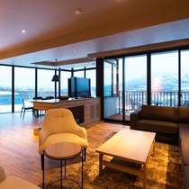*3ベッドルームヌプリプレミアム室内一例/羊蹄山を眺めながら過ごせる非日常空間。