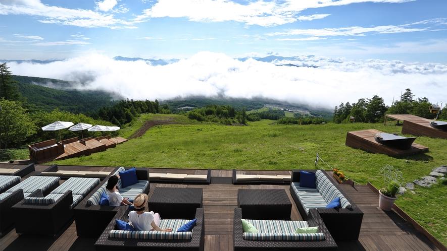 *【周辺観光】サンメドウズ清里ハイランドパーク清里テラスで標高1900mのパノラマをお楽しみください