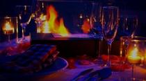 ビーチ テーブル&暖炉